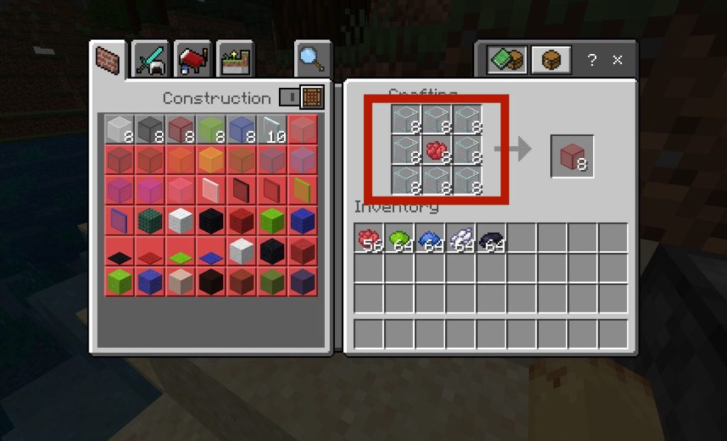 how-to-dye-glass-blocks-in-minecraft-step2