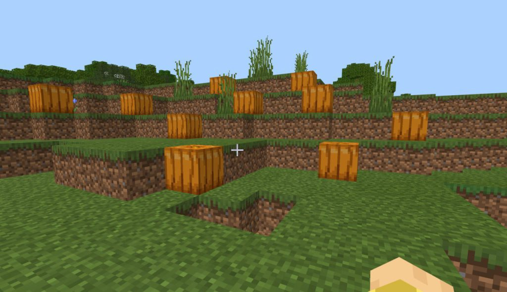 how-to-carve-a-pumpkin-in-minecraft-step1